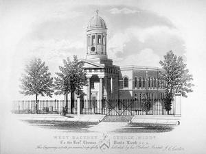 View of St James' Church, West Hackney, London, C1825 by James Carter