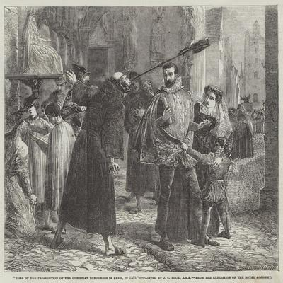 Time of the Persecution of the Christian Reformers in Paris, in 1559