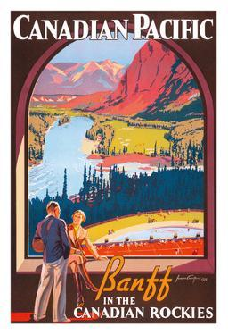 Banff in the Canadian Rockies - Lake Louise, Banff National Park - Canadian Pacific Railway Company by James Crockart