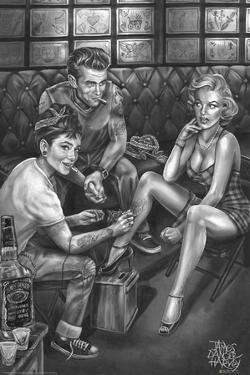 JDH- Audrey Marilyn Dean Tats by James Danger Harvey