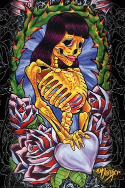 JDH- Skeleton Girl by James Danger Harvey