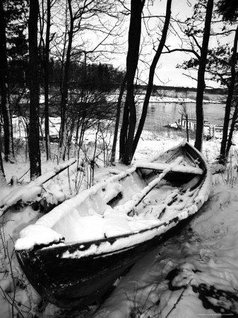 Sweden, Torso, Lake Vanern, Boat