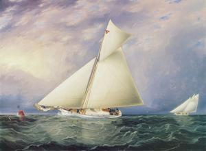 Yacht Race in New York Harbor by James E. Buttersworth