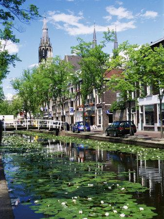 Canal, Delft, Holland (Netherlands), Europe