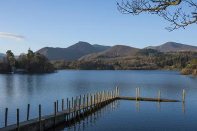 Causey Pike and Grisedale Pike from the boat landing, Derwentwater, Keswick, Lake District National