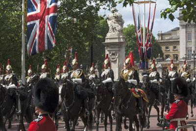Detachment of Mounted Guard in the Mall En Route to Trooping of the Colour