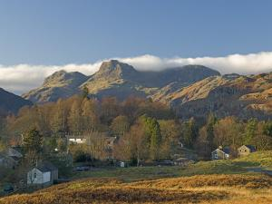 Elterwater Village with Langdale Pikes, Lake District National Park, Cumbria, England by James Emmerson