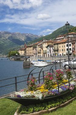 Flower Boat, Domaso, Lake Como, Italian Lakes, Lombardy, Italy, Europe by James Emmerson