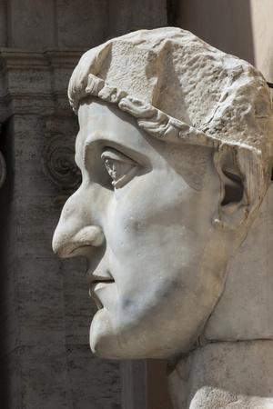 Head of Constantine 1, Dated Ad 4, Capitoline Museum, Ancient Rome, Rome, Lazio, Italy