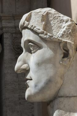 Head of Constantine 1, Dated Ad 4, Capitoline Museum, Ancient Rome, Rome, Lazio, Italy by James Emmerson