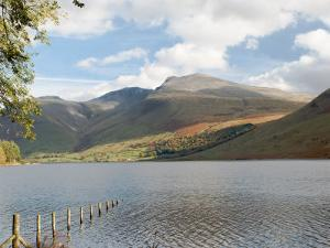 Lake Wastwater with Scafell Pike 3210Ft, and Scafell 3161Ft, Wasdale Valley, Cumbria by James Emmerson