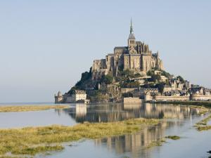 Mont-Tombe and the 12th Century Benedictine Abbey of Mont-St.-Michel, Basse Normandie, France by James Emmerson