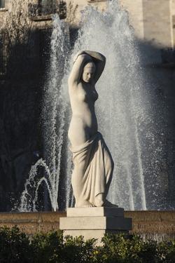 Nude Statue, Placa De Lesseps, Barcelona, Catalunya, Spain, Europe by James Emmerson