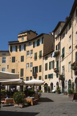 Piazza Anfiteatro, Lucca, Tuscany, Italy, Europe by James Emmerson