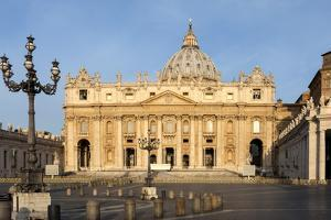 St. Peters and Piazza San Pietro in the Early Morning, Vatican City, Rome, Lazio, Italy by James Emmerson