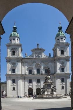 The 17th century Baroque Cathedral of St. Rupert and St. Vergilius, Marian Statue, Austria by James Emmerson