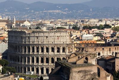 The Colloseum, Ancient Rome, Rome, Lazio, Italy