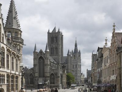 The Old Post Office on the Left, St. Nickolas Church and the Belfry Beyond, Ghent, Belgium, Europe by James Emmerson