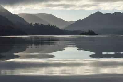 Ullswater, Little Island in November, Lake District National Park, Cumbria, England, UK