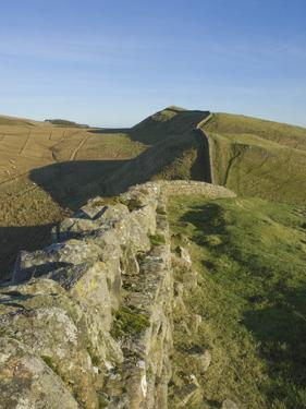 View East to Kings Hill, Hadrians Wall, UNESCO World Heritage Site, Northumbria National Park, Nort by James Emmerson