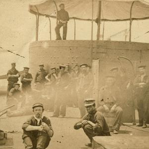 Crew on the Deck of the USS Monitor, 1862 by James F. Gibson