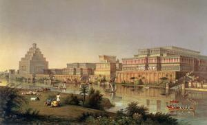 The Palaces of Nimrud Restored, a Reconstruction of the Palaces Built by Ashurbanipal by James Fergusson