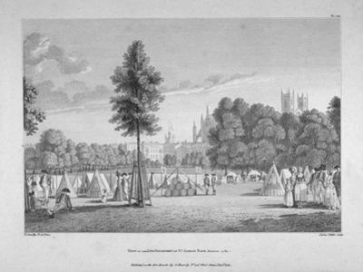 Army Encampment in St James's Park, Westminster, London, 1780