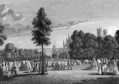 Camp in St James Park