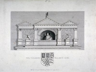 Monument to Sir Gilbert Talbot, Master of the Jewel House at the Tower of London, 1789