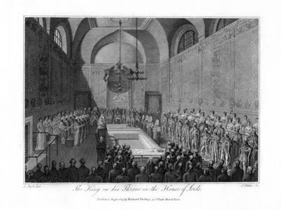 The King on His Throne in the House of Lords, London, 1804