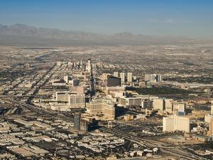 An Aerial View of the Sprawling City of Las Vegas by James Forte
