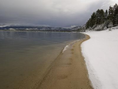 Lake Tahoe Shoreline in the Winter, California by James Forte