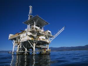 Offshore Oil and Gas Rig in the Pacific Ocean by James Forte