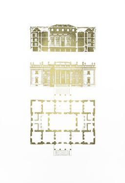 Gold Foil Building Plan II by James Gibbs