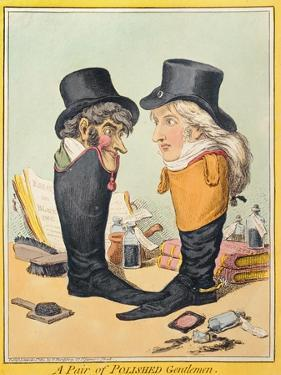 A Pair of Polished Gentlemen, Published by Hannah Humphrey in 1801 by James Gillray