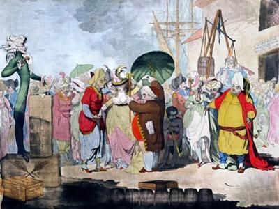 A Sale of English Beauties in the East Indies by James Gillray