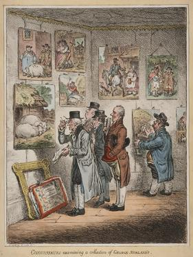 Connoisseurs Examining a Collection of George Morland'S, Published by Hannah Humphrey, 1807 by James Gillray