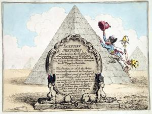 Egyptian Sketches, Published Hannah Humphrey in 1799 by James Gillray
