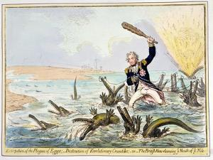 Extirpation of the Plagues of Egypt, Published by Hannah Humphrey in 1798 by James Gillray