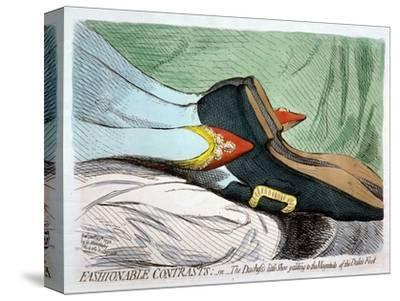 Fashionable Contrasts, or the Duchess's Little Shoe Yielding to the Magnitude of the Duke by James Gillray