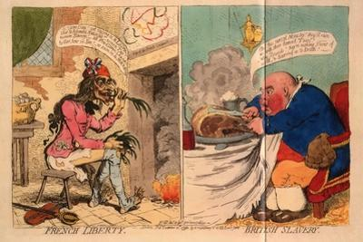French Liberty, British Slavery, 1792 by James Gillray
