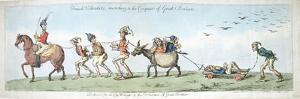 French Volunteers, Marching to the Conquest of Great Britain, Published by Hannah Humphrey in 1799 by James Gillray