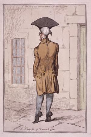 John Burges MD, 1795 by James Gillray