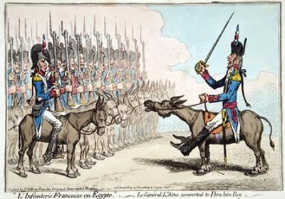 L'Infanterie Francaise En Egypte by James Gillray