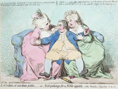 Le Cochon Et Ses Deux Petits, or Rich Pickings for a Noble Appetite by James Gillray