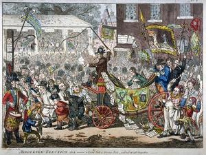 Middlesex-Election, 1804. a Long Pull, a Strong Pull and a Pull All Together, 1804 by James Gillray