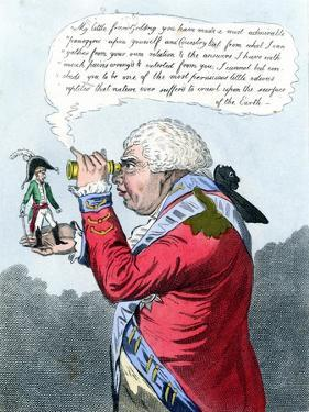 Napoleon and King George III as Gulliver and the King of Brobdingnag, July 1803 by James Gillray