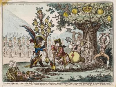 Napoleon the Little Corsican Gardener Plants What He Hopes Will be a New Dynasty by James Gillray