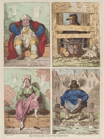 National Conveniences, 1769 by James Gillray