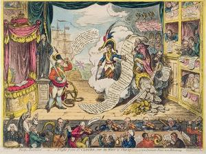 Pacific-Overtures, or a Flight from St. Clouds 'Over the Water to Charley' - a New Dramatic Peace… by James Gillray